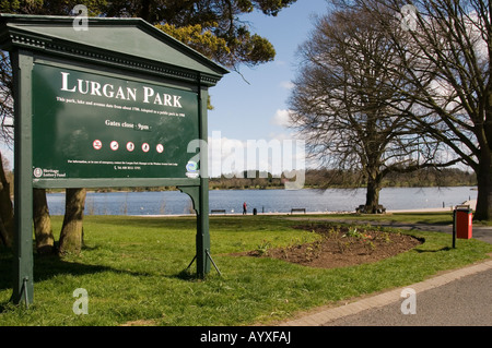 The entrance to Lurgan Park, Northern Ireland - Stock Photo