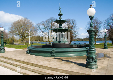 The fountain in Lurgan Park, Northern Ireland - Stock Photo