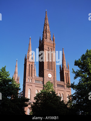 Marktkirche in Wiesbaden, Rhein, Hessen - Stock Photo