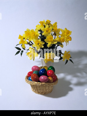 public holiday, legal holiday, Easter, bunch of flowers, daffodils, narcissus, flowers, plant, plant life, flora, - Stock Photo