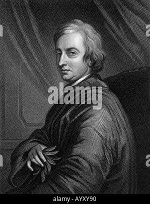 JOHN DRYDEN - English poet 1631 to 1700 - Stock Photo