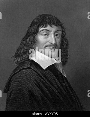RENE DESCARTES  French philosopher and mathematician 1596 to 1650 - Stock Photo
