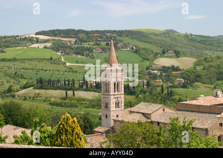 Countryside around Urbino, a Renaissance City in Le Marche Italy birthplace of Raphael Santi the famous painter - Stock Photo