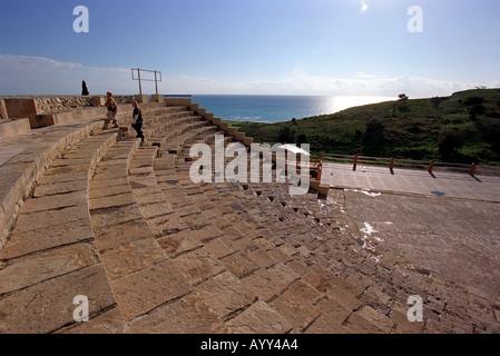 Kourion Graeco Roman Theatre in Cyprus - Stock Photo