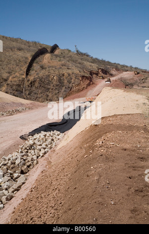 Road Being Built by National Guard Next to Mexican Border - Stock Photo