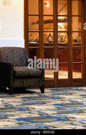 Hotel restaurant entry interior - Stock Photo