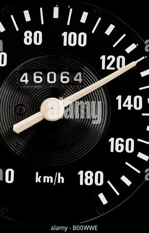 dashboard speedometer - Stock Photo