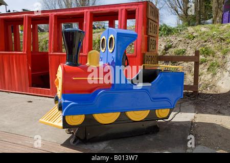Miniature railway, Brooklands, Lancing, Sussex, UK - Stock Photo