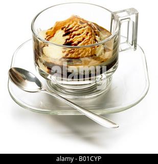 Affogato expresso & vanilla ice cream - Stock Photo