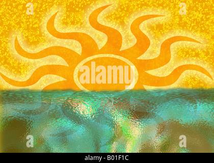 Sunset Illustration - Stock Photo