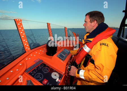 Coxswain of RNLI Lifeboat, Britain, UK - Stock Photo