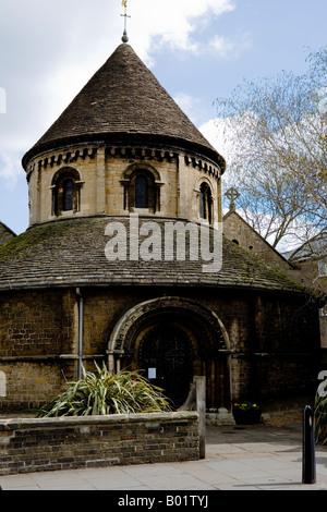 Round Church or Church of the Holy Sepulchre, Cambridge, Cambridgeshire, East Anglia, England, UK - Stock Photo