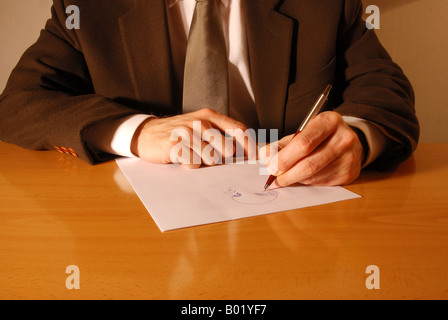 Hand gestures: drawing. - Stock Photo