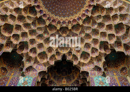 Entrance to Imam Mosque in Esfahan, Iran. - Stock Photo