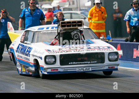 John Zappia, 2008 Australian Top Doorslammer drag racing Champion in action at the Perth Motorplex, Western Australia. - Stock Photo
