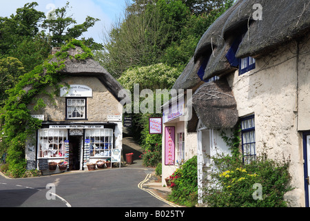 Tea room and shop in Godshill Isle of Wight England - Stock Photo