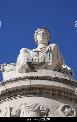 Peace monument in Piazza Libertà - Udine Friuli North Italy - Stock Photo