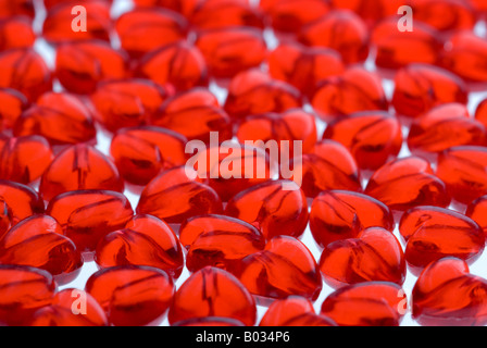 Hearts background - shallow depth of field. - Stock Photo