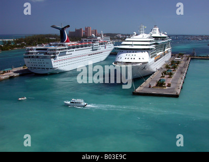 Cruise Ships In Port - Stock Photo