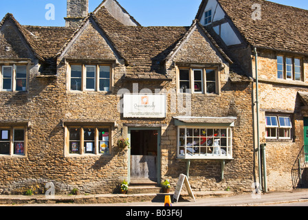Village shop in Lacock Wiltshire England UK EU - Stock Photo