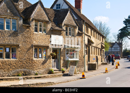 Village shop in West Street in Lacock Wiltshire England UK EU in Lacock village - Stock Photo