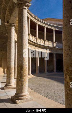 Courtyard inside the Palacio de Carlos V, Palace of Charles V Stock Photo, Ro...