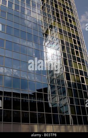 banking District in Frankfurt Germany - Stock Photo