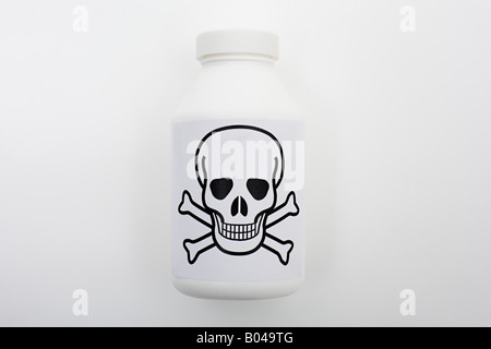 Bottle of poison - Stock Photo