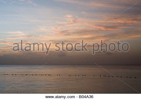 The ocean at sunset - Stock Photo