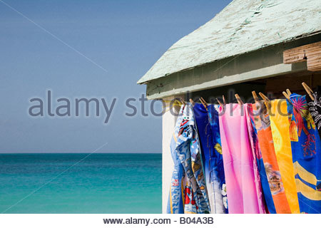 Towels dryng on a clothesline - Stock Photo