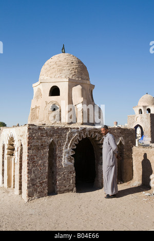 Vertical shot of tomb within the Fatamid Cemetery, Aswan City, Egypt - Stock Photo