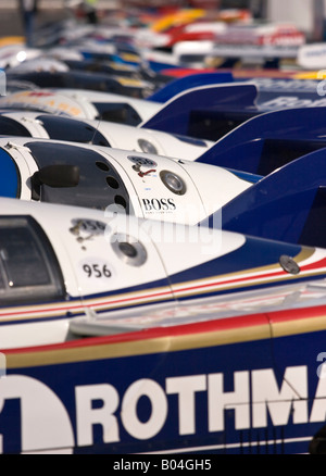 Line up of Rothmans Porsche 956 Group C - Stock Photo