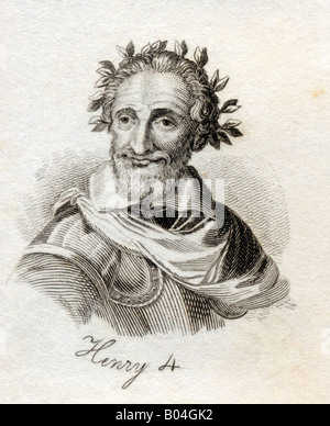 Henry IV aka Henry of Navarre or Bourbon 1553 1610 King of Navarre as Henry III 1572 89 First Bourbon king of France - Stock Photo