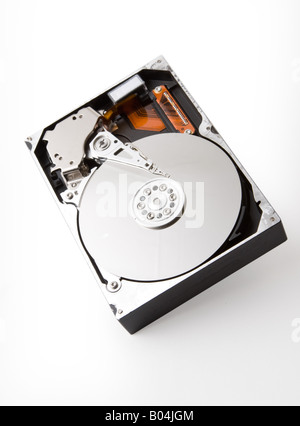 Open hard disk with all brand names removed - Stock Photo