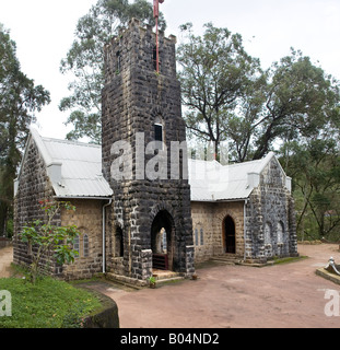 Christ Church built of stone by the British is one of the finest small Edwardian churches in India. Munnar Idduki - Stock Photo