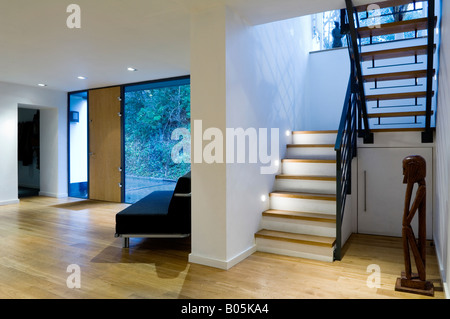 Open plan entrance hallway and living room in stone house atherton stock photo royalty free for Open plan hallway and living room