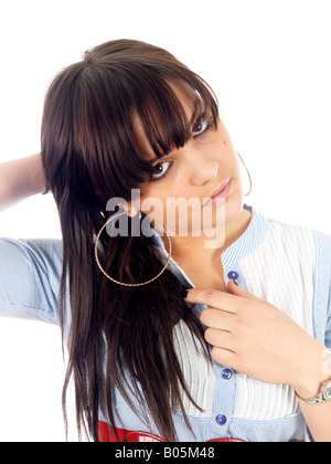Smart Teenager Model Released - Stock Photo