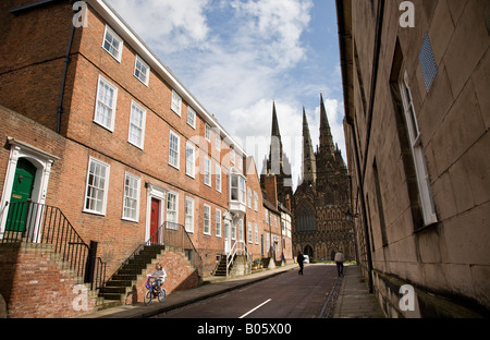 Lichfield Cathedral Staffordshire England UK - Stock Photo