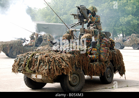 VW Iltis Jeeps used by scout or recce teams from the Belgian Army. - Stock Photo