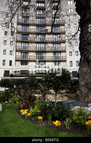 Front View of The Dorchester Hotel, Park Lane, London, England - Stock Photo