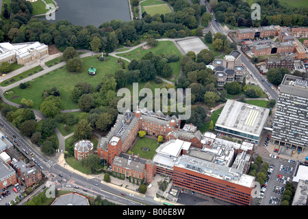 Aerial view north west of University of Sheffield Brook Hill Western Bank park Arts Tower and Library Mappin Art - Stock Photo