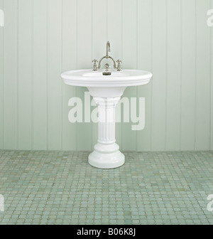 antique restored french basin sink bathroom - Stock Photo