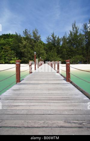 Jetty On Pulau Manukan, Tunku Abdul Rahman National Park, Kota Kinabalu, Sabah, Malaysian Borneo - Stock Photo