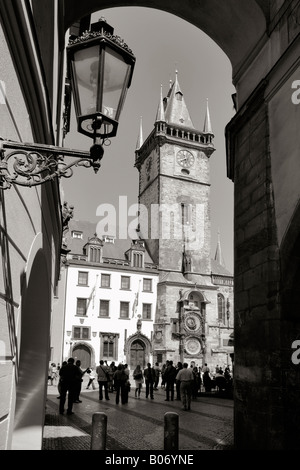 CZECH REPUBLIC PRAGUE OLD TOWN SQUARE OLD TOWN HALL ASTRONOMICAL CLOCK - Stock Photo
