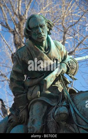 A statue of Kit Carson in Carson City, Nevada - Stock Photo