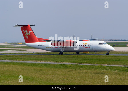 Euromanx DeHavilland Dash8 [Canada DHC-8-311Q] Taxiing for Take-off at Manchester Ringway Airport England United - Stock Photo