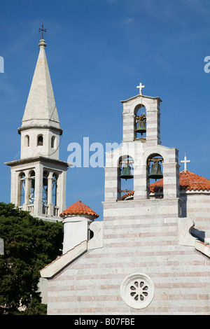 Montenegro, Budva, Old Town (Stari Grad), Church Detail - Stock Photo