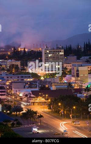New Caledonia, Grande Terre Island, Noumea, Town view - Stock Photo