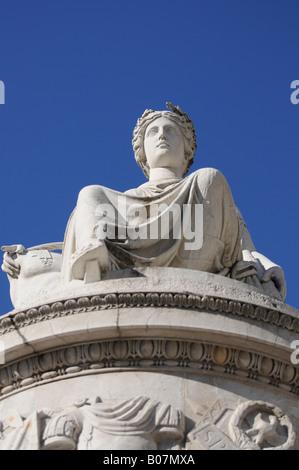 Peace statue in Piazza Libertà Udine - Friuli Italia - Stock Photo