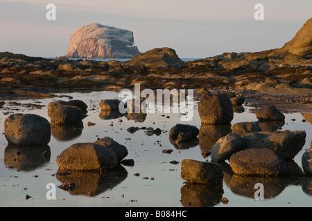 Bass Rock, from North Berwick - Stock Photo